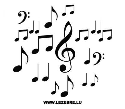 Kit Sticker Deco Notes de Musique